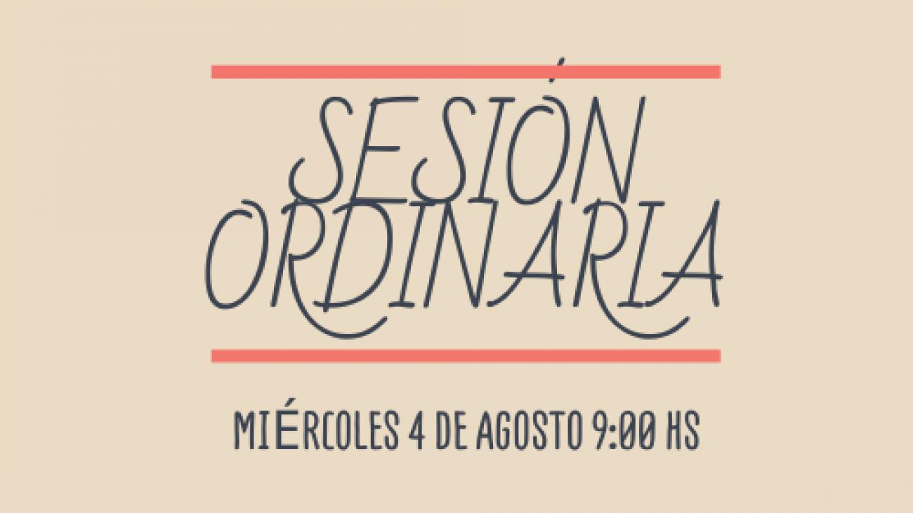 Sesión ordinaria